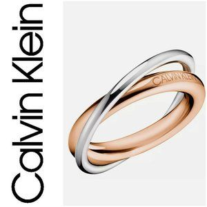 CALVIN KLEIN Double Ring St SteelRs Gold/Silver